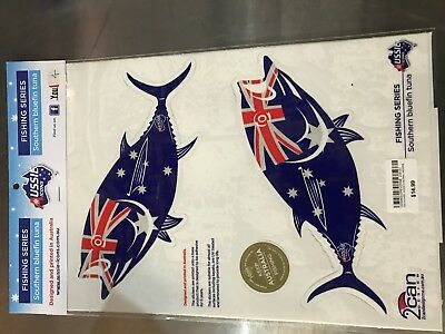 Aussie Icons Fishing Series Southern Bluefin Tuna pair of stickers RRP $14.99