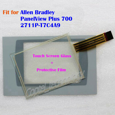 New for Allen Bradley PanelView Plus 700 2711P-T7C4A9 Touch Screen Glass + Film