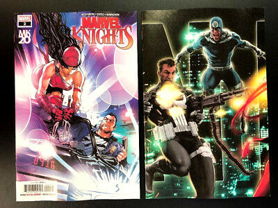 MARVEL KNIGHTS 20TH #2 Main + Andrews Connecting Set Cates Marvel 2018 NM+
