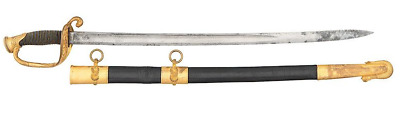Extremely Rare Ames Navy US 1852 U.S.Naval Officer's Sword