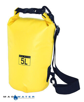 Mad Water™ 5L Waterproof Dry Bag Yellow M30505 Motorcycle Luggage Dry Tube