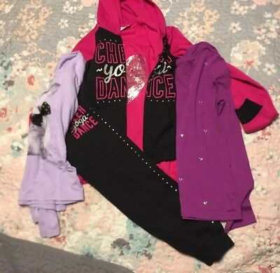 Danskin Now Girls Lot Joggers 10-12 Faded Glory Long Sleeved Tops NWT 5 Pieces!