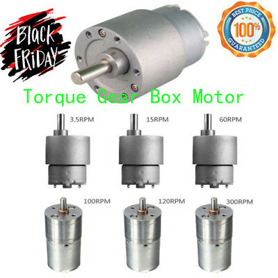 3.5//15//60//100//120//300RPM 12V DC  Powerful High Torque Gear Box Motor CNC SP