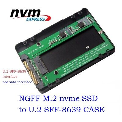 U.2 SFF-8639 To M.2 M-Key PCIE SSD Adapter For Mainboard Case Enclosure new