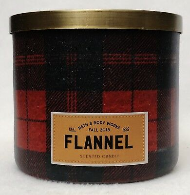 "musk Bath /& Body Works FLANNEL 3 Wick Jar Candle RED PLAID /""Love Fall/"" Bergamot"