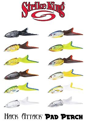 Strike King Hack Attack Pad Perch Hollow Body Topwater Lure - Select Color