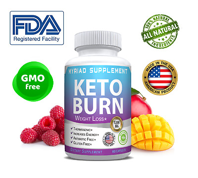 Keto BURN Diet Pills 1200 MG Ketosis Weight Loss Supplements To Fat Burn& Carb