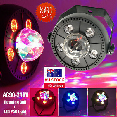 11W RGB Crystal Rotating Ball LED Stage Light Party Club DJ Disco Lighting