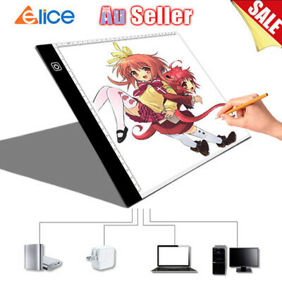 A4 LED Light Board Artcraft Tracing Drawing Pad Stencil Painting Dimmable Tablet