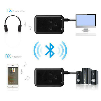 2 in 1 Bluetooth 4.2 Transmitter & Receiver 3.5mm Wireless Stereo Audio Adapter