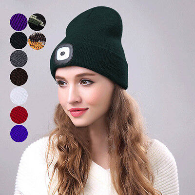 3ddcad111 OLED RECHARGEABLE LIGHT fishing Lamp Beanie Hat Knit Cap Camping ...