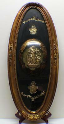 Gorgeous Large Wall Hanger /Plaque Musical Scenes-Bach- Wagner Beautiful Frame