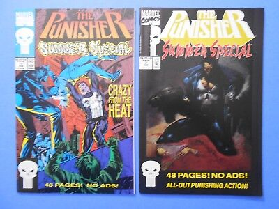 1993 Marvel The Punisher Summer Special #1 #2 Comic Book Lot Vf/nm Unread