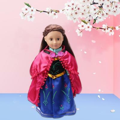 """Handmade Fashion Clothes Party Dress For Barbie Doll Decor For 18"""" US Girl"""