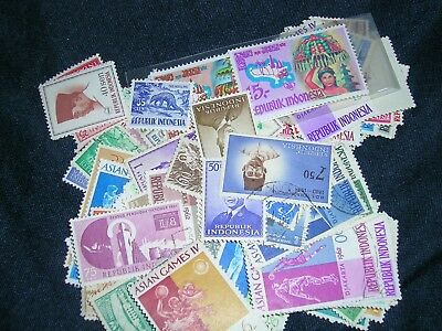 Indonesia Postage Stamps over 100 stamps mixed  great condition