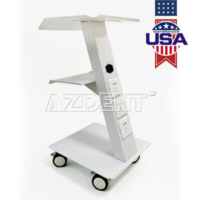 Medical Trolley Cart Dental Metal Mobile Instrument Cart for Equipment  3 Layers