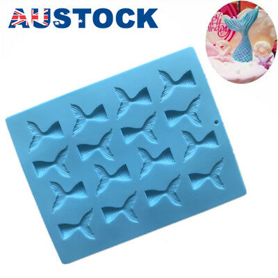 Mermaid Tail Silicone Cake Mold Jelly Cookies Chocolate Baking Mould Ice Cube ss