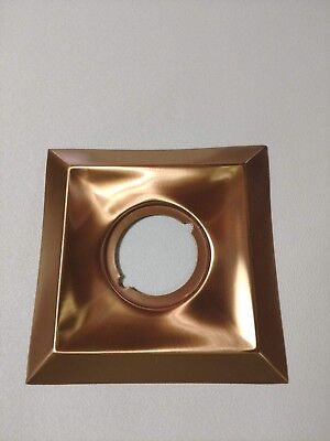 Vintage 1950's Square/Diamond Stamped Copper Door Knob Backing Plate NOS