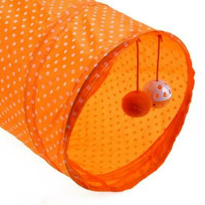 Cat Play Tunnel - Pet Scratch and Play tunnel with two balls attached