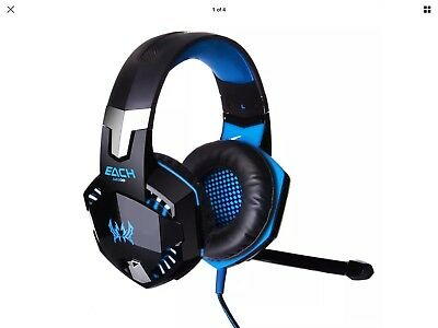 Kotion Each G2000 Pro Gaming Headset With Microphone Blue New