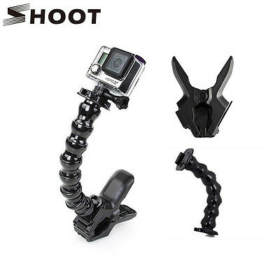 Jaws Flex Clamp Mount+Adjustable Neck Accessories  for GoPro Hero 7 6 5S 5 4S 4