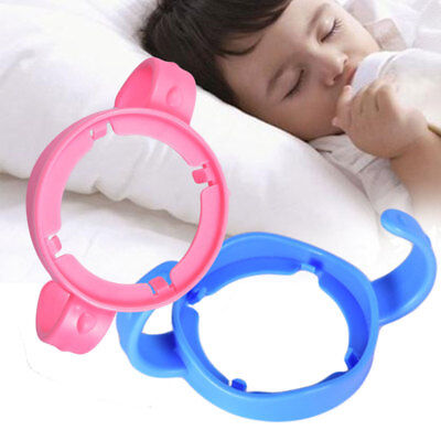 1 Pcs Blue Pink Baby Bottle Infant Grip Handle Natural Wide Mouth Feeding Safe