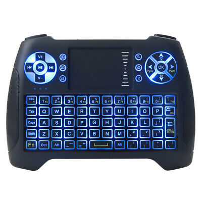 2.4GHz Mini Backlit Wireless Keyboard Air Mouse with Touchpad For Android TV Box