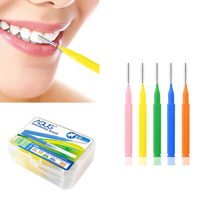 60Pcs Brosse Cure Dent Brossette Interdentaire Oral Toothpick Dentaire Nettoyage