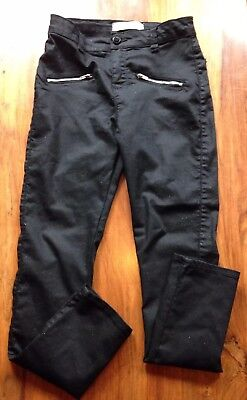 Girls Black Trousers/Jeans Size 12-13 Years.Denim Co.Slim Leg.Fit Height 158cm