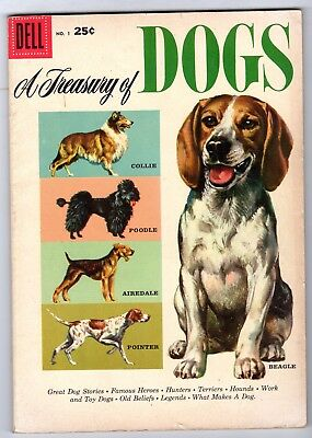 Dell Giant #1 Featuring A Treasury of Dogs, Fine Condition'