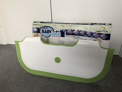 BabyDam / Baby Bathwater Barrier / White/Green in Colour / Excellent Condition