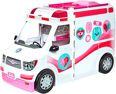 Care Clinic Vehicle Barbie Ambulance Van Toy Playsets Kids Hospital Play Toys