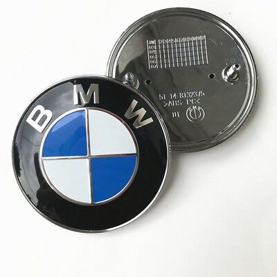 for BMW Car Emblem Chrome Front Badge Logo 82mm 2 Pins For BMW Hood/Trunk New
