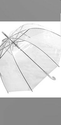 Dome ladies Clear Dome Umbrella Bubble Wedding Brolley