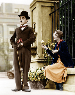 CHARLIE CHAPLIN PICTURE ,!! beautiful colorized picture !