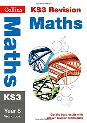 KS3 Maths Year 8 Workbook (Collins KS3 Revisio by Collins KS3 New Paperback Book
