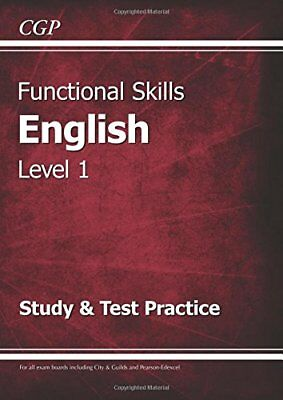 Functional Skills English Level 1 - Study & Test Pract by CGP New Paperback Book
