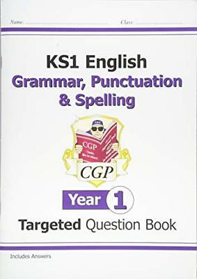 KS1 English Targeted Question Book: Grammar, Punctuati by CGP New Paperback Book