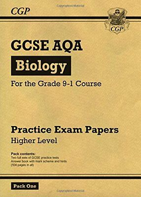 New Grade 9-1 GCSE Biology AQA Practice Papers: Higher by CGP New Paperback Book