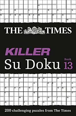 The Times Killer Su Doku Book 13: 200 by The Times Mind Games New Paperback Book