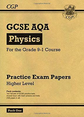 New Grade 9-1 GCSE Physics AQA Practice Papers: Higher by CGP New Paperback Book