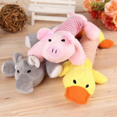 Pet Puppy Chew Squeaker Squeaky Plush Sound Pig Elephant Duck Dog ToysGE 2019