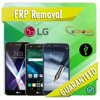 REMOTE SERVICE GOOGLE Account Removal Reset FRP Bypass LG G3 G4 G5