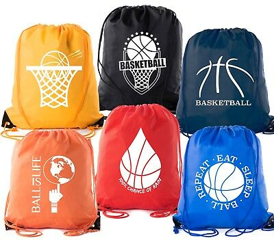 Mato & Hash Basketball Drawstring Bags with 3,6, and 10 pack bulk options