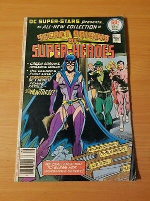 DC Super Stars #17 Secret Origins ~ FINE FN ~ 1977 DC COMICS