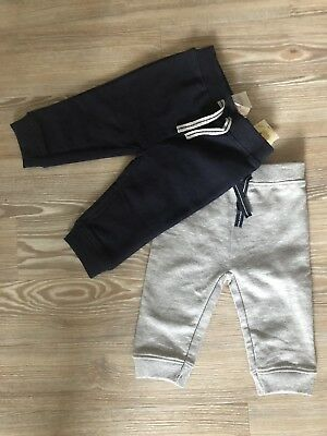 Brand New With Tags - 2 x Baby Boys Joggers Trousers 3-6 Months Navy And Grey