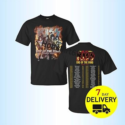 KISS 2019 'End of the Road' World Tour 2 side T-shirt all size tee