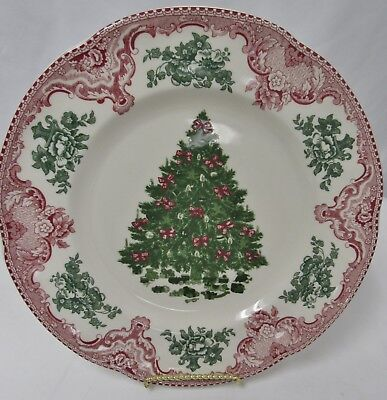 Johnson Brothers OLD BRITAIN CASTLES PINK CHRISTMAS Dinner Plate