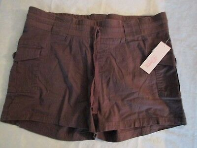 Motherhood Maternity Brown Shorts NWT Size Large