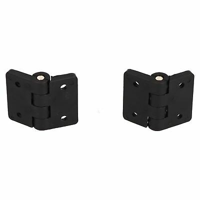 2 Pack Black Polymide Hinge Reinforced Plastic 40x48mm Italian Made Industrial